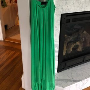Kelly Green Cynthia Rowley MAXI Dress Size Small